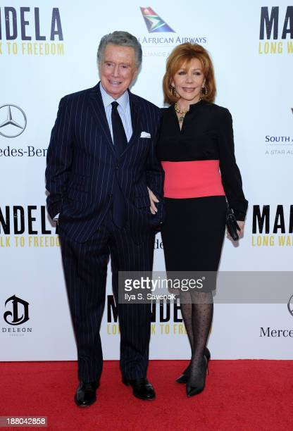Regis Philbin and his wife Joy Philbin attend the New York premiere of 'Mandela Long Walk To Freedom' hosted by The Weinstein Company Yucaipa Films...