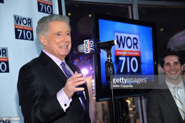 Regis Philbin and Joe Puglise attend the New York's new WOR 710 launch party on January 22 2014 in New York City