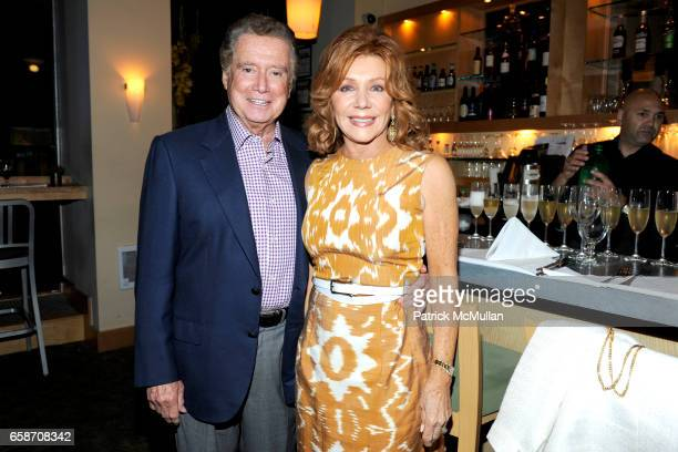 Regis Philbin and Joy Philbin attend A PRIVATE DINNER for the Sneak Screening of FOOD INC at L'Ecole on June 9 2009 in New York City