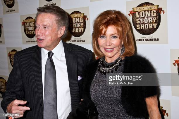 Regis Philbin and Joy Philbin attend COLIN QUINN LONG STORY SHORT OPENING NIGHT DIRECTED BY JERRY SEINFELD at Helen Hayes Theatre on November 9 2010...