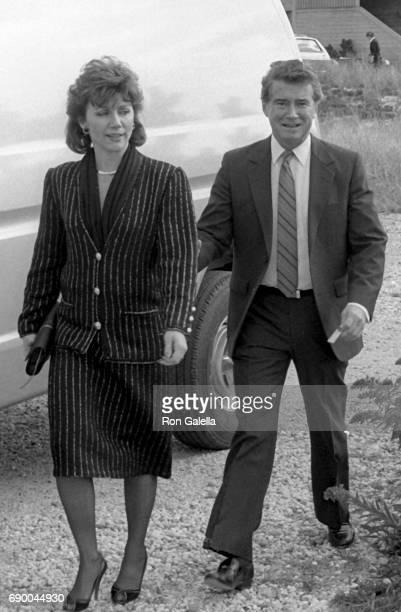Regis Philbin and Joy Philbin attend Frank GiffordKathie Lee Johnson Wedding Reception on October 18 1986 in Bridgehampton New York