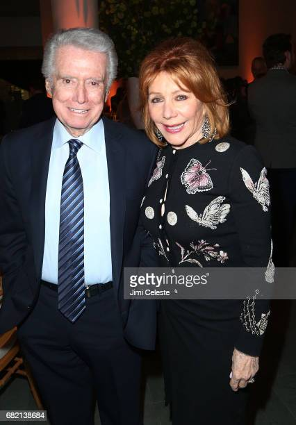 Regis Philbin and Joy Philbin attend the after party for 'The Wizard of Lies' New York premiere at The Museum of Modern Art on May 11 2017 in New...