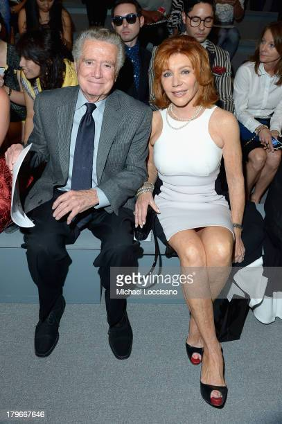 Regis Philbin and Joy Philbin attend the Carmen Marc Valvo Spring 2014 fashion show during MercedesBenz Fashion Week at The Stage at Lincoln Center...
