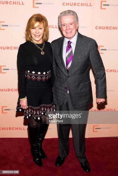 Regis Philbin and Joy Philbin attend the 'Churchill' New York Premiere at the Whitby Hotel on May 22 2017 in New York City