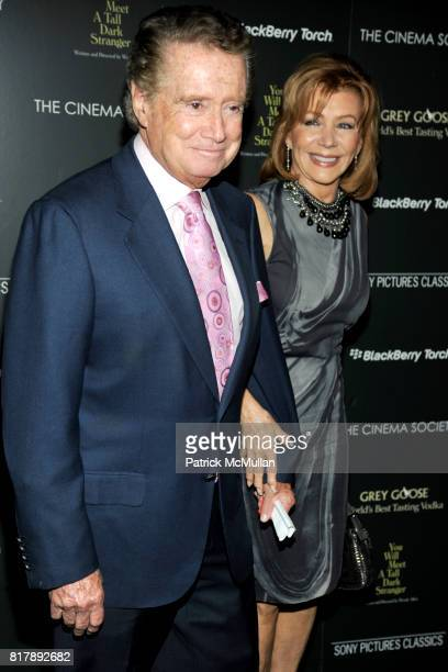 Regis Philbin and Joy Philbin attend THE CINEMA SOCIETY BLACKBERRY TORCH host a screening of 'YOU WILL MEET A TALL DARK STRANGER' at The Museum of...
