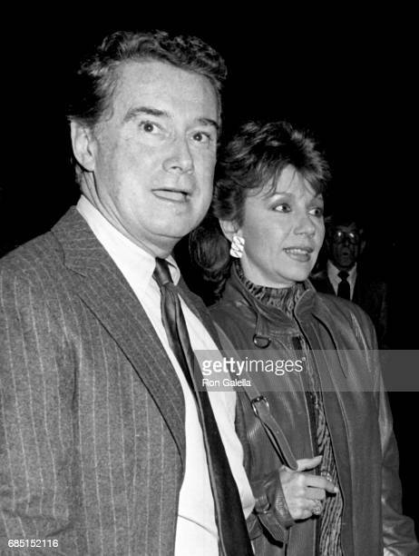 Regis Philbin and Joy Philbin attend 'The Color of Money' Premiere on October 8 1986 at the Ziegfeld Theater in New York City