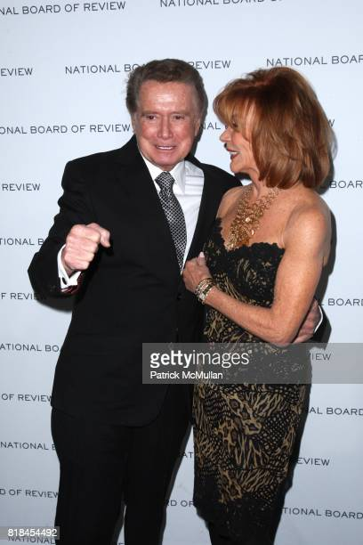 Regis Philbin and Joy Philbin attend THE NATIONAL BOARD OF REVIEW OF MOTION PICTURES AWARDS GALA at Cipriani 42nd St on January 12 2010 in New York...