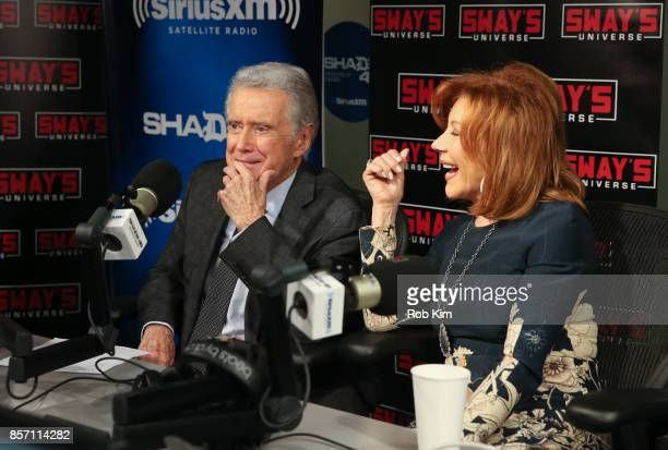 Regis Philbin and Joy Philbin visit 'Sway in the Morning' at SiriusXM Studios on October 3 2017 in New York City