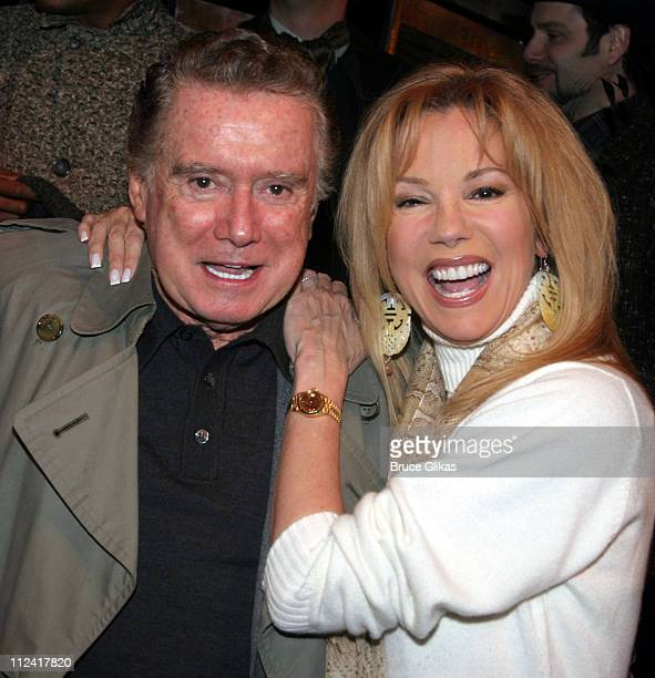 Regis Philbin and Kathie Lee Gifford during Regis and Kathie Lee Reunion at 'Under the Bridge' at The Zipper Theater in New York City New York United...