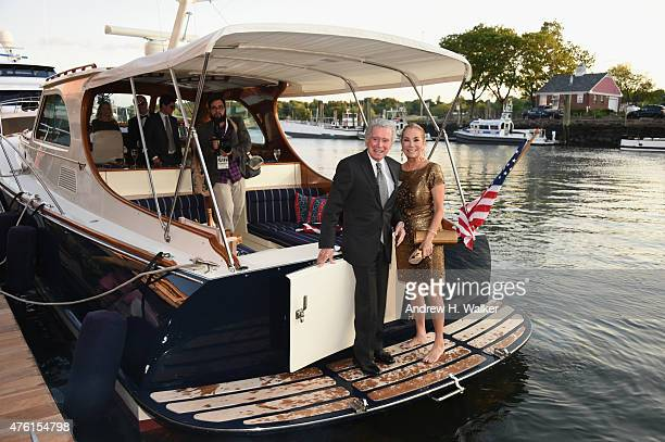 Regis Philbin and television host Kathie Lee Gifford arrive at Greenwich Film Festival 2015 Changemaker Honoree Gala at L'Escale Restaurant on June 6...