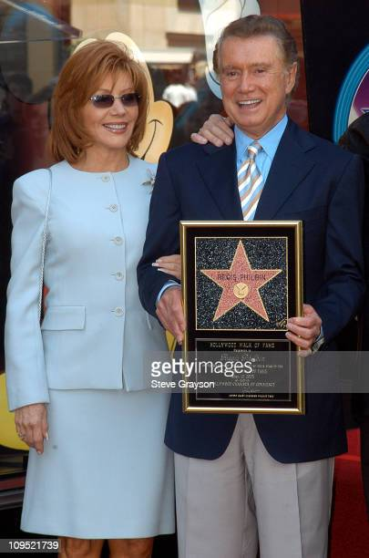 Regis Philbin and wife Joy Philbin during Regis Philbin Honored with a Star on the Hollywood Walk of Fame for His Achievements in Television at...