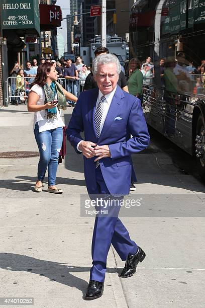 Regis Philbin arrives at 'Late Show with David Letterman' at Ed Sullivan Theater on May 19 2015 in New York City