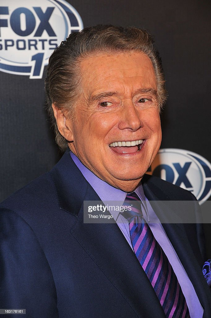 <a gi-track='captionPersonalityLinkClicked' href=/galleries/search?phrase=Regis+Philbin&family=editorial&specificpeople=202495 ng-click='$event.stopPropagation()'>Regis Philbin</a> attends the 2013 Fox Sports Media Group Upfront after party at Roseland Ballroom on March 5, 2013 in New York City.