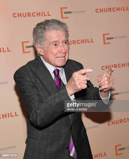 Regis Philbin attends the New York Premiere of 'Churchill' at The Whitby Hotel on May 22 2017 in New York City / AFP PHOTO / ANGELA WEISS