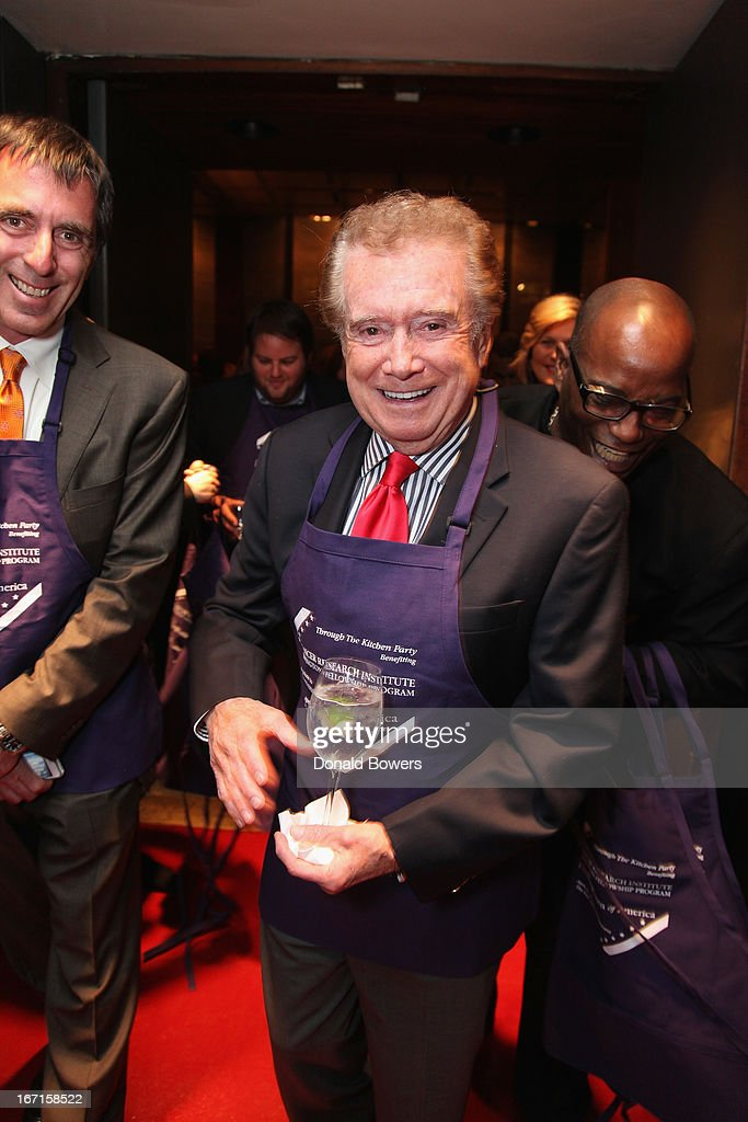 <a gi-track='captionPersonalityLinkClicked' href=/galleries/search?phrase=Regis+Philbin&family=editorial&specificpeople=202495 ng-click='$event.stopPropagation()'>Regis Philbin</a> attends The Through The Kitchen Party Benefit For Cancer Research Institute on April 21, 2013 in New York City.