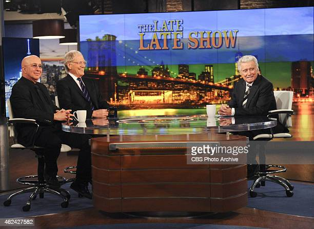 Regis Philbin guest hosted THE LATE LATE SHOW with guest Dave Letterman and Paul Shaffer on THE LATE LATE SHOW on Tuesday Jan 27 2015 on the CBS...