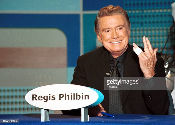 Regis Philbin host of ABC's 'Who Wants to be a Millionaire' appearing as a celebrity panelist on '2Minute Drill'