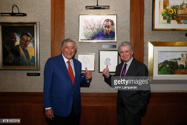 Regis Philbin joins Tony Bennett as Tony Bennett celebrates 90 Years of artistry original artwork classic TV performances VIP opening reception at...