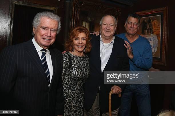 Regis Philbin Joy Philbin Bobby Zarem and Keith Hernandez attend Bobby Zarem's Birthday at The Cutting Room on September 29 2014 in New York City