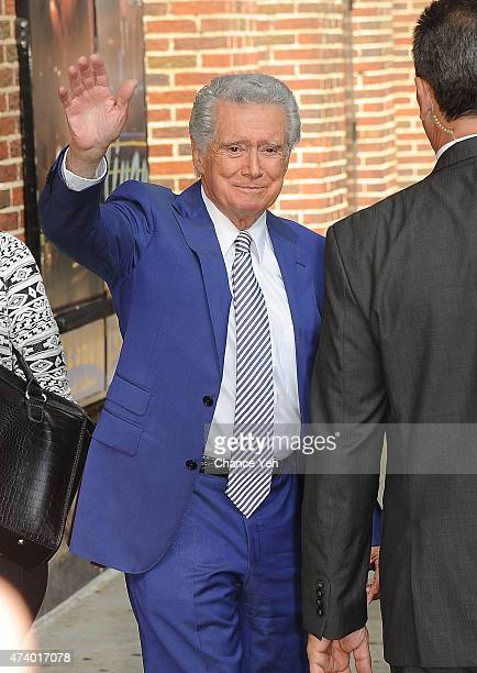 Regis Philbin visits 'Late Show With David Letterman' at Ed Sullivan Theater on May 19 2015 in New York City