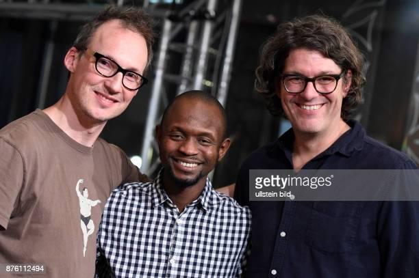 Regisseure Estephan Wagner Abou Bakar Sidibe und Moritz Siebert beim RadioEins BerlinaleNighttalk am Rande der 66 Internationalen Filmfestspiele...