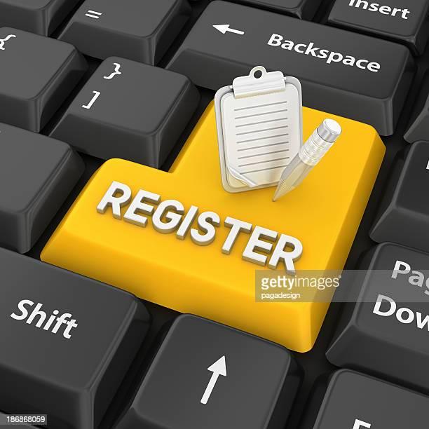 Registrieren Sie Eingabetaste