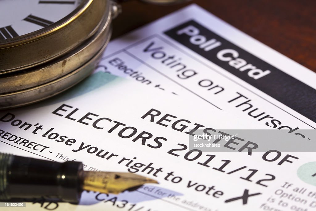 Register of Electors : Stock Photo