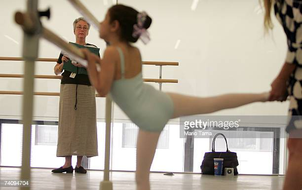 Registrar Alexandra Schierman looks on as a girl competes during the first ever auditions for sixyearolds at the School of American Ballet at Lincoln...