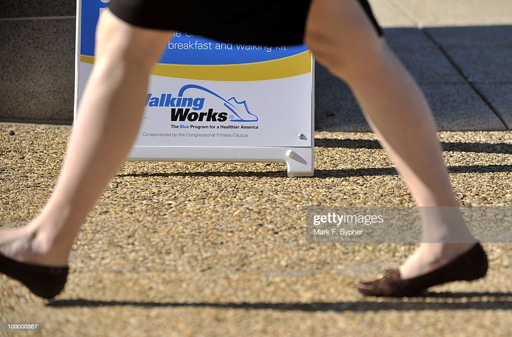 Registration began Tuesday morning for the 7th Annual WalkingWorks Capitol Hill Challenge at the Upper House Park behind the Longworth House Office Building.