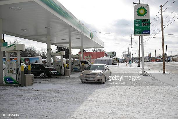 Regular gas cash price is displayed for $206 a gallon at a BP station January 6 2015 in Flint Michigan Crude oil dropped below $50 a barrel Tuesday...