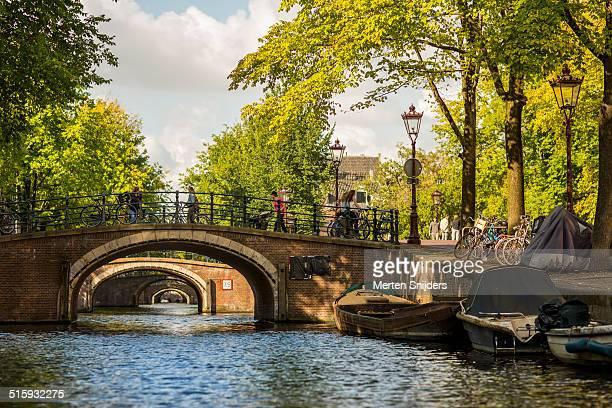 Reguliersgracht famous for the seven bridges