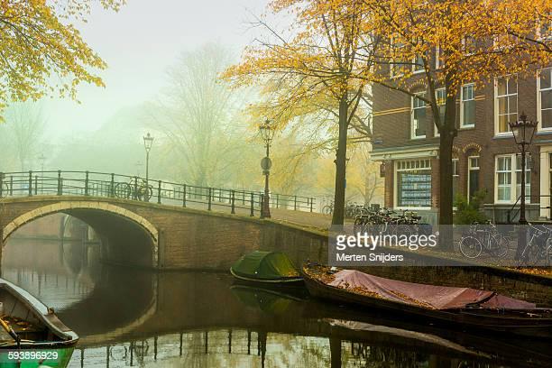 Reguliersgracht in autumn mist