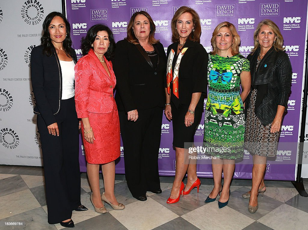 Rehana Farrell, Comissioner Yolanda Jimenez, Candy Crowley, Dr. Pamela Peeke, Lesley Jane Seymour and Carol Kurzig attend Women in the Workplace: Reducing Stress With Meditation at Paley Center For Media on October 8, 2013 in New York City.