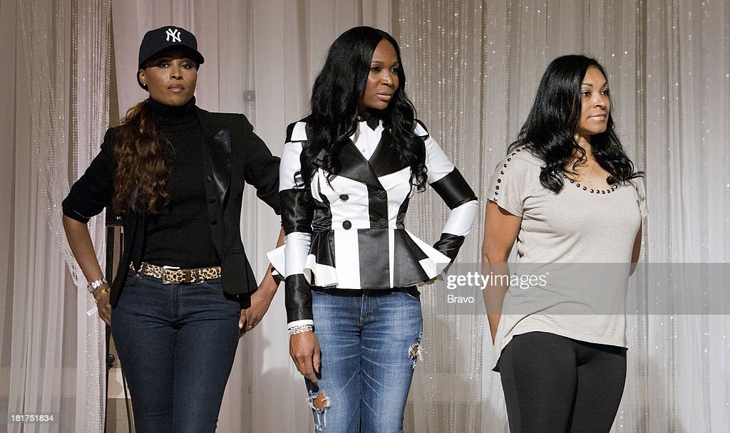 NENE -- 'Rehearsal Dinner' -- Pictured: (l-r) <a gi-track='captionPersonalityLinkClicked' href=/galleries/search?phrase=Cynthia+Bailey&family=editorial&specificpeople=3055318 ng-click='$event.stopPropagation()'>Cynthia Bailey</a>, Marlo Hampton, Diana Gowins --