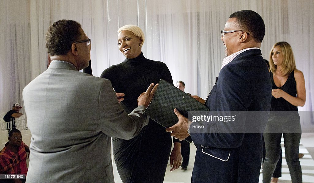 NENE -- 'Rehearsal Dinner' -- Pictured: (l-r) Gregg Leakes, <a gi-track='captionPersonalityLinkClicked' href=/galleries/search?phrase=NeNe+Leakes&family=editorial&specificpeople=5446374 ng-click='$event.stopPropagation()'>NeNe Leakes</a> --