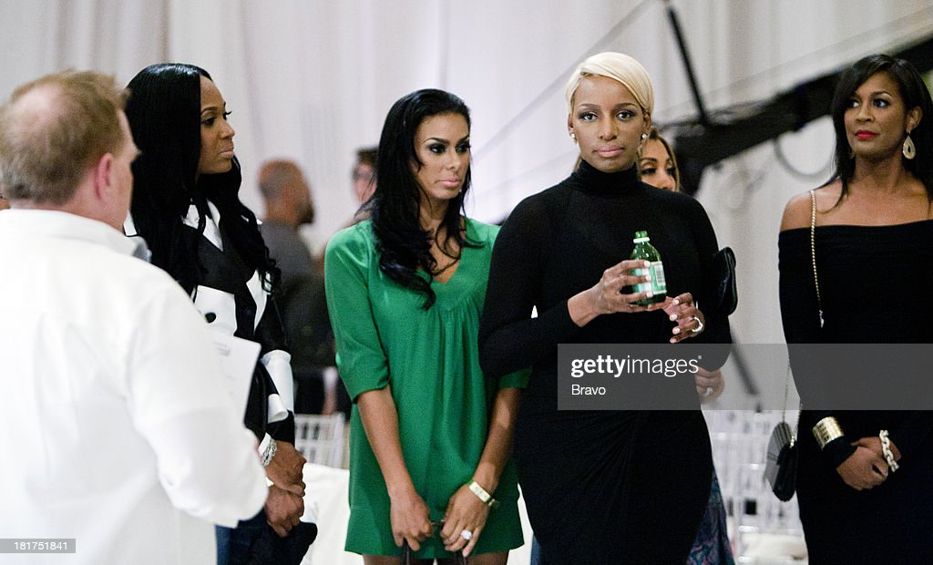 NENE -- 'Rehearsal Dinner' -- Pictured: (l-r) Marlo Hampton, Laura Govan, <a gi-track='captionPersonalityLinkClicked' href=/galleries/search?phrase=NeNe+Leakes&family=editorial&specificpeople=5446374 ng-click='$event.stopPropagation()'>NeNe Leakes</a>, <a gi-track='captionPersonalityLinkClicked' href=/galleries/search?phrase=Dawn+Robinson&family=editorial&specificpeople=620700 ng-click='$event.stopPropagation()'>Dawn Robinson</a> --