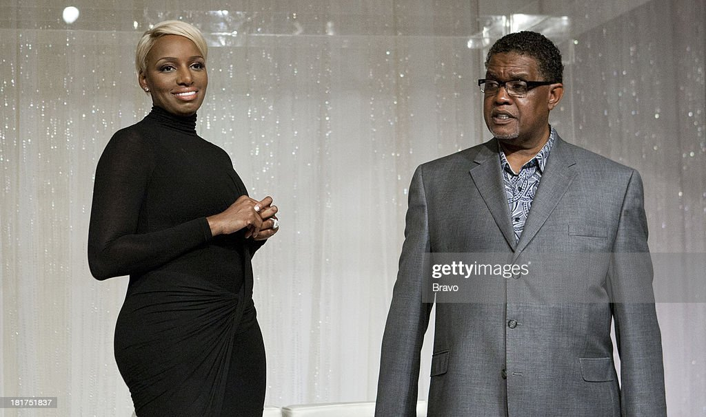 NENE -- 'Rehearsal Dinner' -- Pictured: (l-r) <a gi-track='captionPersonalityLinkClicked' href=/galleries/search?phrase=NeNe+Leakes&family=editorial&specificpeople=5446374 ng-click='$event.stopPropagation()'>NeNe Leakes</a>, Gregg Leakes --