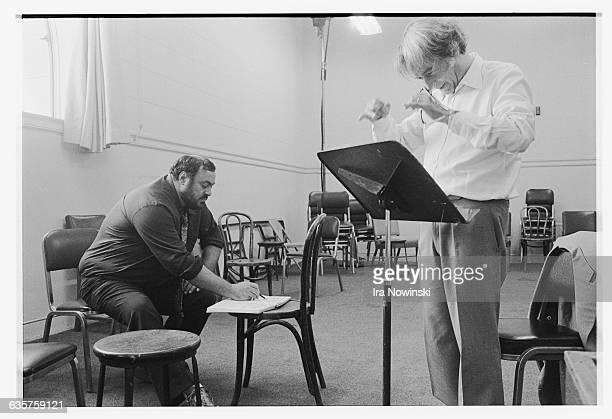 Rehearsal for the La Gioconda opera Composer Amilcare Ponchielli