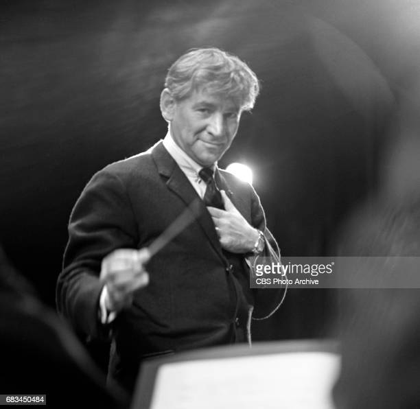 Rehearsal of New York Philharmonic Young Peoples Concert session Young Performers With conductor Leonard Bernstein in a program featuring four young...