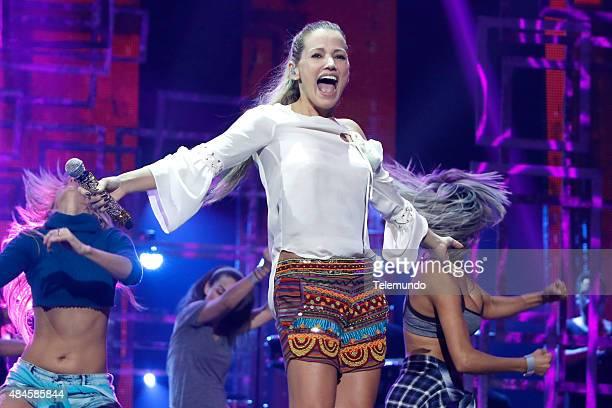 Fanny Lu rehearses for the 2015 Premios Tu Mundo at the American Airlines Arena in Miami Florida on August 19 2015 PREMIOS TU MUNDO 2015 Ensayo...