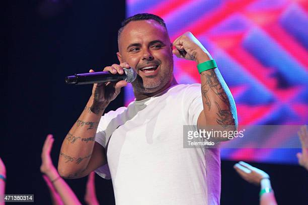 Juan Magan rehearses for the 2015 Billboard Latin Music Awards from Miami Florida at the BankUnited Center University of Miami on April 27 2015...