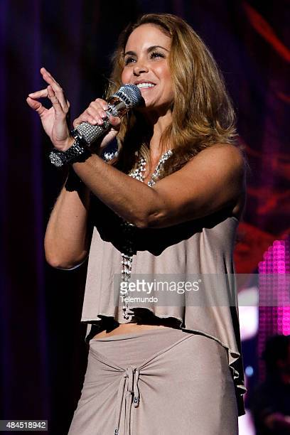 Lucero rehearses for the 2015 Premios Tu Mundo at the American Airlines Arena in Miami Florida on August 19 2015 PREMIOS TU MUNDO 2015 Ensayo Imagen...