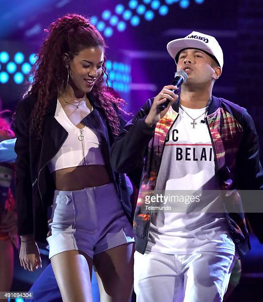 Natalie La Rose and Kevin Roldan rehearse for the 2015 Latin American Music Awards at The Dolby Theater in Hollywood CA on October 6 2015 LATIN...