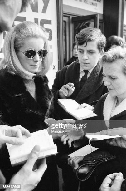 Rehearsals ahead of Royal Film Performance for Born Free at The Odeon Leicester Square London Sunday 13th March 1966 picture shows Catherine Deneuve...