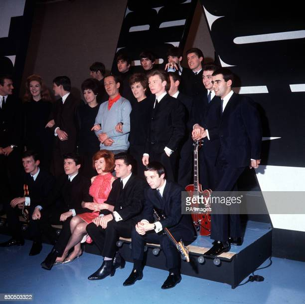 Rehearsals at Alpha studios Birmingham for ABC's 'Thank Your Lucky Stars' programme with Brian Matthew Cilla Black The Beatles Billy J Kramer and the...