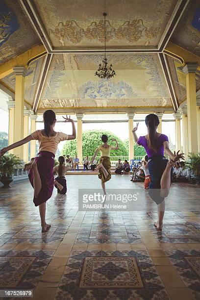 Rehearsals of the Royal Ballet of Cambodia at the Palais Royal on February 26, 2013 in Phnom Penh, Camdodia.