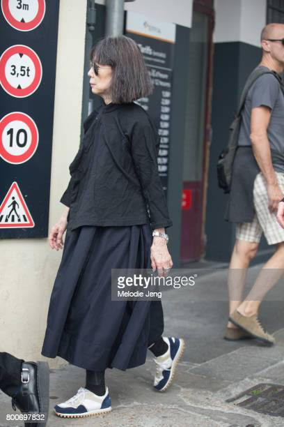 Rei Kawakubo outside the Vetements SS18 'NO SHOW' event on June 24 2017 in Paris France