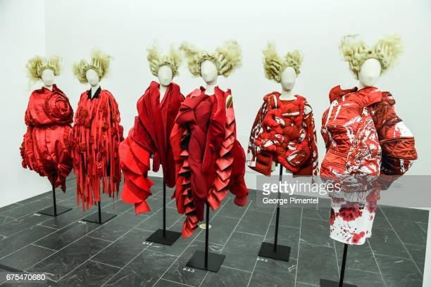 'Rei Kawakubo/Comme des Garcons Art Of The InBetween' Costume Institute Gala Press Preview at Metropolitan Museum of Art on May 1 2017 in New York...