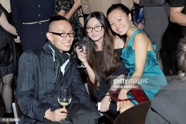 Rei Ng Sharon Jou and Tianyi Xie attend 'Forgotten Fashion' book party honoring the release of Let's Bring Back by Lesley MM Blume at Library on...