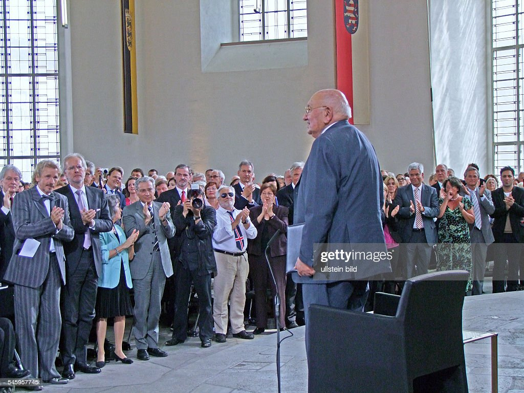 ReichRanicki Marcel Author Journalist Literary Critic Germany at the awards for the 'LudwigBoerne'Medal in Frankfurt am Main Germany
